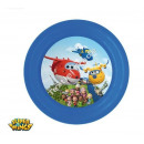 Super Wings PLATOS DE PLASTICO 20cm 3D