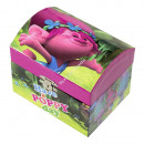 Trolls wooden jewerly box with mirror and music
