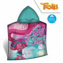 wholesale Licensed Products: Trolls Hooded poncho verlour