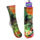 Turtles fotodruck socke