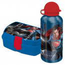 Batman vs Superman botella de aluminio + sandwiche