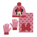 Minnie baby hat scarf and gloves