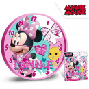 Minnie wall clock 25 cm - pink