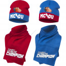 Cars Disney hat and scarf Ice racing champion