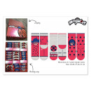 Miraculous Ladybug socks in display