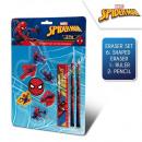 Spiderman 10 pezzi set cancelleria