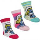 Smurfs 3 pack baby socks