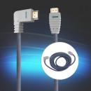 Großhandel DVD & TV & Zubehör: HDMI Kabel HighSpeed, 5m, rechts gewinkelt, ...