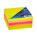 Sticky Note Cube NEON, 400 sheets