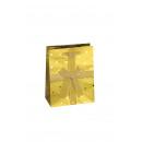Cadeau zak met gouden linten medium