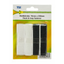 wholesale Haberdashery & Sewing: Velcro straps 16  mm x 23 cm, black / white
