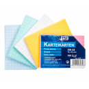 Index Cards A8 checkered pack of 100, colored