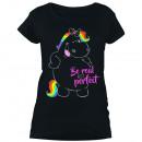 Großhandel Shirts & Tops: Pummeleinhorn - Damen T-Shirt mit Glitzerschrift