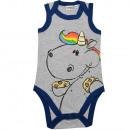ingrosso Prodotti con Licenza (Licensing): Unicorno paffuto - body per neonato senza maniche