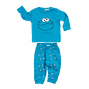 wholesale Trousers: Cookie Monster - Baby Set Top & Pants blue