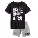 Großhandel Nachtwäsche: AC/DC - kurzärmeliger Schlafanzug Herren