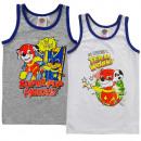 Großhandel Lizenzartikel: Paw Patrol - Kinder Unterhemd Jungen 2er Pack