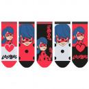 Großhandel Lizenzartikel: Miraculous - Kinder Sneaker Socken 5er Pack