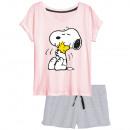 Großhandel Nachtwäsche: Peanuts - kurzärmeliger Schlafanzug Damen