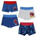 Großhandel Lizenzartikel: Spiderman - Kinder Retroboxer Jungen 4er Pack