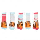 groothandel Kleding & Fashion: Spirit - Kinder Sneaker Sokken Meisjes 5-Pack
