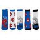 groothandel Licentie artikelen: Spiderman - Kinder sneaker sokken pak van 5
