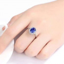 Cassie women's ring with a blue stone