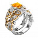 Lisa ring with orange zircon