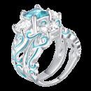 Mia ring with blue zircos