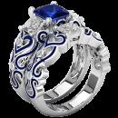 Großhandel Ringe: Rachel Ring mit blauem Zirkon