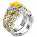 Valentina ring with yellow zircon