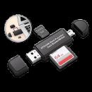 wholesale USB-Accessories: RoboUsb 3 in 1 micro USB drive