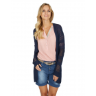 Damen Cardigan Ajour, navy