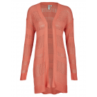 Damen Cardigan Ajour, burnt coral