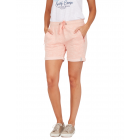 Ladies Sweatshorts Melange, burnt coral