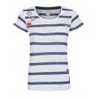 Damen T-Shirt Sailing Stripes, white-navy