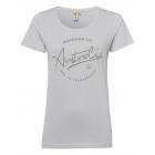 Damen Roadsign T-Shirt Rundhals, grau, Größe XL