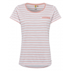 Ladies T-Shirt striped, rose / white, size XXL