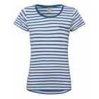 Ladies T-Shirt striped, blue / white, size XXL