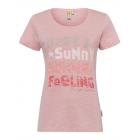 Damen Print T-Shirt Happy, rose