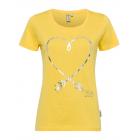 Damen Printshirt Heart, gelb