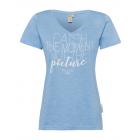 Ladies Print T-Shirt Catch the moment, light blue