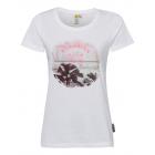 T-Shirt estampada mujer playa, blanca