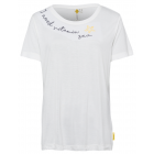 Ladies T-Shirt with embroidery, white