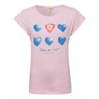Camiseta T-Shirt mujer estampado acuarela, rosa