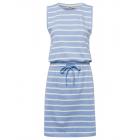 Vestido de mujer a rayas azul claro / blanco.