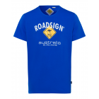 Herren T-Shirt Roadsign, royal, Größe M