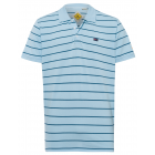Camisa polo de hombre a rayas, azul / azul claro.