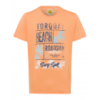 Men's T-Shirt Torquay Beach, orange, round nec