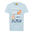Men's T-Shirt Torquay Beach, light blue, round